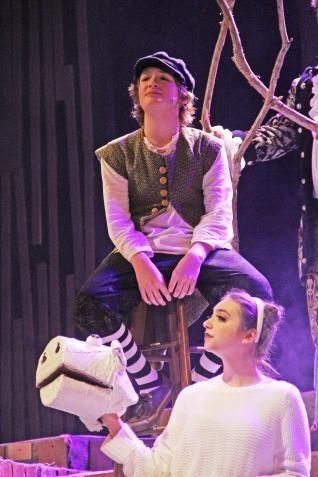 "Blase Roque (Freshman, ""Jack"") & Katherine Edgar (Sophomore, ""Milky White"")"